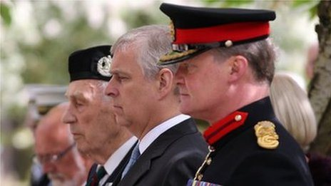 The Duke of York joins veterans of the Battle of Kohima for a memorial service in York