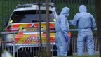 Forensics team at site of attack in Woolwich, south-east London