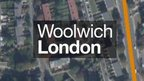 Graphic shows map of Woolwich in London