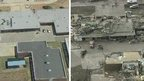Plaza Towers Elementary School, Oklahoma, is shown before and after the tornado
