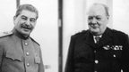 Joseph Stalin and Winston Churchill