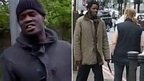 Men pictured after Woolwich attack