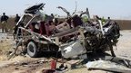 Police vehicle destroyed in bomb attack in Quetta, 23 May