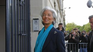 IMF chief Christine Lagarde outside the court in Paris, 23 May