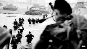 D Day landings in Normandy