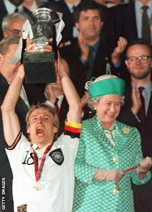Jurgen Klinsmann & the Queen