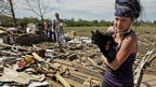 The clean up has started after the massive Tornado that hit Oklahoma in America - and rescuers are finding lots of people's pets.