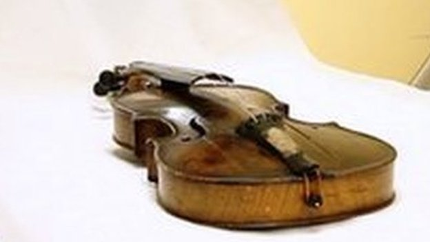 Titanic violin scan