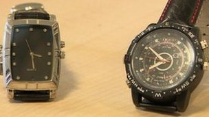 The two watches which featured hidden cameras