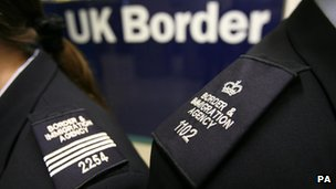 border agency officials