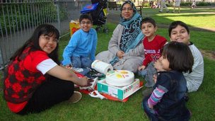 Sabah Usmani and her children who died in house fire in Harlow