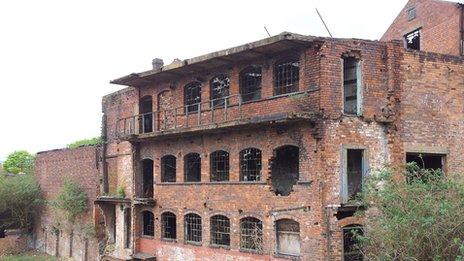 Derelict factory in the Jewellery Quarter of Birmingham