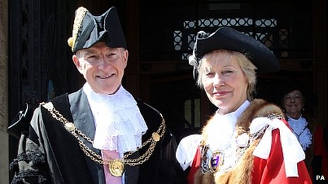 Lord Mandelson and Virginia Bottomley