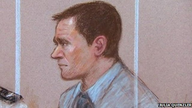 Court drawing of Mark Bridger
