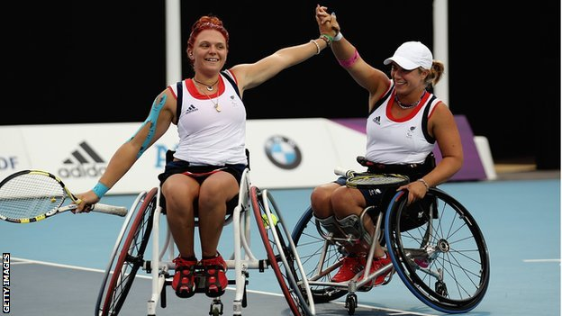 Jordanne Whiley and Lucy Shuker