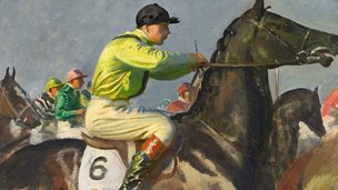 Yellow Jockey by Sir Alfred Munnings