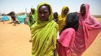 Sudanese women in the Zam Zam camp for Internally Displaced Persons (22 May 2013)