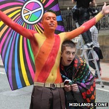 Men at Gay Pride