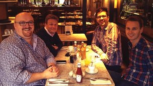 BBC WM Breakfast team having breakfast