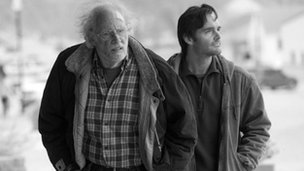 Bruce Dern and Will Forte in Nebraska