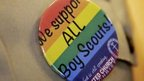 Badge proclaiming support for gay Scouts