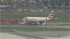 BA plane on runway after emergency landing