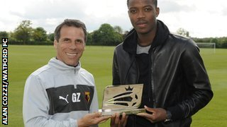 Gianfranco Zola and Nathaniel Chalobah