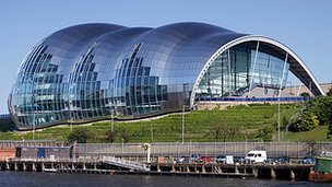 The Sage arts centre in Gateshead