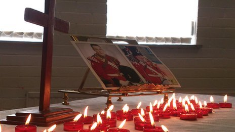 Candles lit in memory of Drummer Lee Rigby