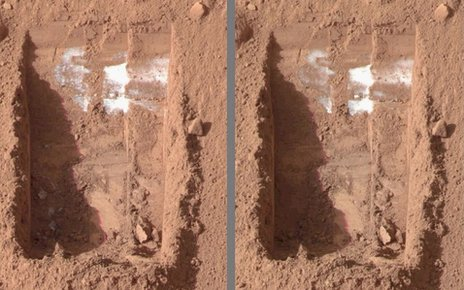 Water ice, Mars