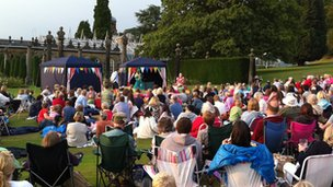 Outdoor theatre at Chatsworth
