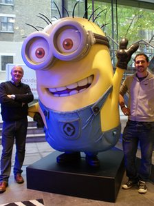The 10ft tall Minion which will promote the film in UK cinemas