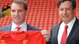 Liverpool manager Brendan Rodgers with Chairman Tom Werner