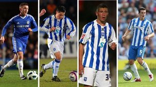 Anton Rodgers, George Barker, Steve Cook and Lewis Dunk