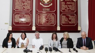 Family members and loved ones of murdered soldier Lee Rigby