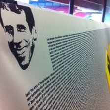 A banner with messages from 1,500 Watford fans