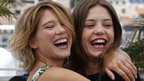 Lea Seydoux (left) and Adele Exarchopoulos
