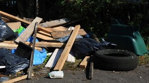 Fly-tipping, a generic image