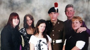 Lee Rigby and his family