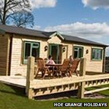 Hoe Grange Holiday cabin.