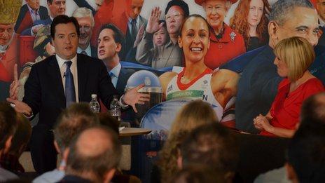 George Osborne and Stephanie McGovern