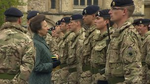Princess Anne with 12 Logistic Support Regiment
