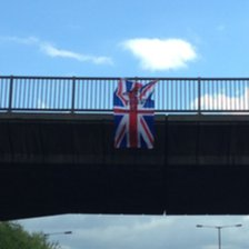 Flag on the M6