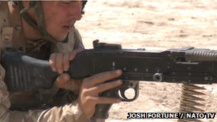 Drummer Lee Rigby preparing for an operation in Afghanistan