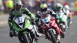 Motorbike riders racing at the North West 200