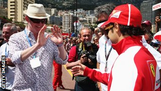 Chris Evans and Felipe Massa