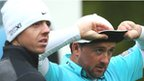 McIlroy and McDowell on the 11th hole in Friday's second round