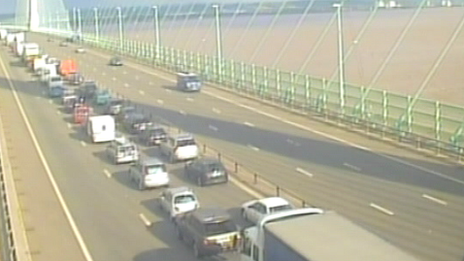 M4 closed by Severn crossing crash...