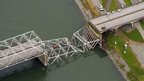 Part of Interstate 5 bridge collapsed in Skagit River near Mount Vernon, Washington. 24 May 2013