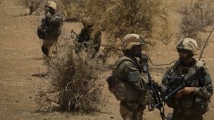 French soldiers in northern Mali (10 April 2013)
